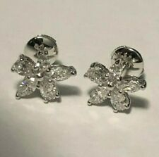 Tiffany & Co. Victoria Mixed Cluster Diamond Platinum Earrings, Large Model