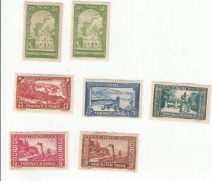 lot de 7 timbres anciens de Monaco non oblitérés 1930