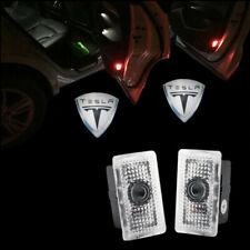 2X LED Car Door Laser Courtesy Ghost Shadow Lights For Tesla Model X/S/3 Logo