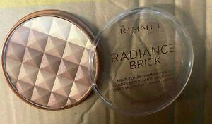 RIMMEL RADIANCE BRICK MULTI-TONAL SHIMMER POWDER - 002 MEDIUM 12G