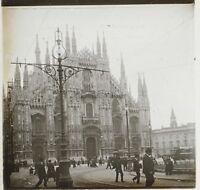 Milan Italia Foto Placca Da Lente Stereo K1 Vintage Ca 1910