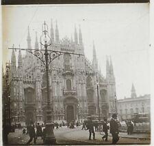 Milan Italie Photo Plaque de verre Stereo K1 Vintage ca 1910