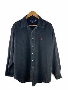 VINTAGE Ralph Lauren Blaire Button Up Shirt Mens Size XL Long Sleeve Corduroy
