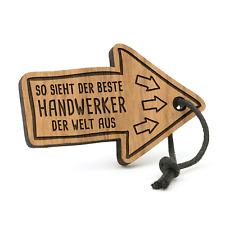Bester Handwerker der Welt Schlüsselanhänger Pfeil Holz Geschenk Idee Heimwerker