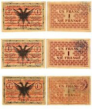 More details for albania shqiperi vetqeveritare korce 1917 blue serial series b very good  - xf