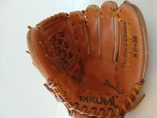 "Sakurai SP-40 Infield Grain Leather Basket Web 11"" Baseball Glove Japan"