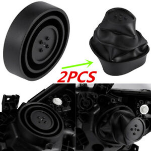 2Pcs Universal Seal Cap Rubber Dust Cover for Car Headlight Fog Lamp Housing Kit