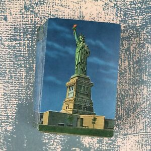 Vintage Playing Cards Souvenir New York City Statue of Liberty Gilded Edge