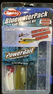 BERKLEY BLUEWATER PACK SOFT PLASTICS KIT POWERBAIT FISHING HOOKS KIT TACKLE BOX