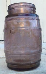 AMETHYST HONEY JAR BARREL TYPE EXTERNAL THREAD WA GOLDFIELD'S CIRCA 1925