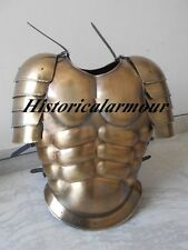 MUSCLE ARMOUR JACKET W/SHOULDER BRASS ANTIQUE FINISH Knight Fighters Replica HA1