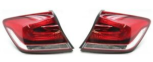 Right & Left Outer Genuine Tail Lights Brake Lamps Pair Set For Honda Civic EX