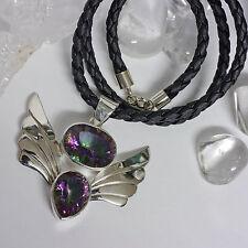 Halsketten und Anhänger aus Beschichtete Echtschmuck mit Topas-Hauptstein
