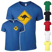 T-Shirt Känguru Schild Australien outback  Shirt Fun Kult bedruckt