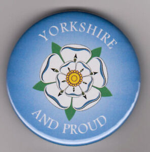 Yorkshire and Proud badge - show pride in White Rose county with button pin