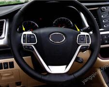 ABS Silver Chrome Steering Wheel Trim 2pcs For Toyota Highlander 2017 2018