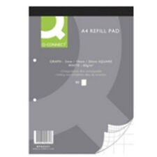 Pack Of 10 A4 Graph Paper Pads - 80 Sheets Per Pad - 2/10/20mm Squares