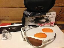 NEW Oakley JAWBONE Matte White / VR28 Black Iridium POLARIZED & Persimmon 04-204