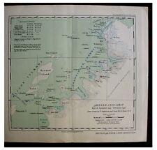 1938 Rymill - BRITISH GRAHAM LAND - Antarctic - PRE-BOOK - Colour Maps - 4-5-6