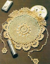 Pretty Victorian Lace Purse/Tote Bag/Crochet Pattern Instructions