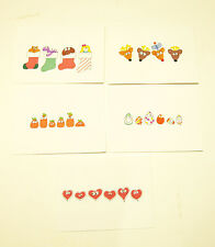 New Handmade Christmas Valentines Easter Halloween Greeting Cards, Set of 5  FS