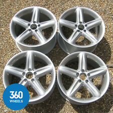 "GENUINE MERCEDES R230 SL CLASS 18"" AVIOR 5 SPOKE ALLOY WHEELS R230 A2304010502"