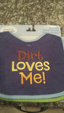 Making Miracles Embroidered Cute Baby Sayings- 4 Pc Bib Set - New