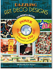 ART DECO DESIGNS[DAZZLING] IMAGES DOVER CLIP ART[240 ROYALTY FREE DESIGNS] NEW!
