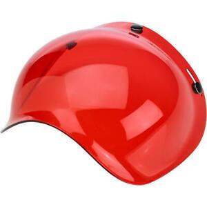 Biltwell Anti-Fog Bubble Shield - Rose Red - Universal 3-Snap - SHIPS FAST/FREE!