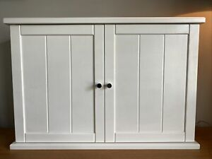 White John Lewis Double Door Wall-Hung Shaker Style Bathroom Cabinet