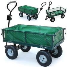 Heavy Duty Large Garden Trolley Cart Truck 4 Wheel Transport Metal Wheelbarrow