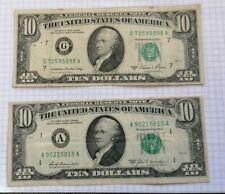 2 BANCONOTE 10 DOLLARI USA del  1969 e 1981