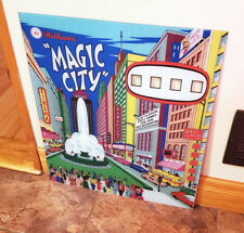 Williams 1967 MAGIC CITY  Pinball Machine REPLACEMENT BACKGLASS