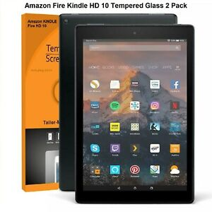 """Tempered Glass Protector For Amazon Fire HD 10 9th Gen (2019) 10.1""""  **2 Pack**"""