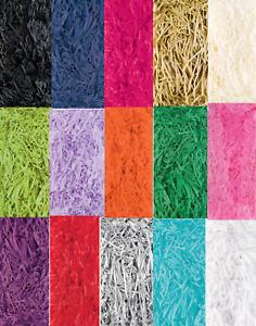 Shredded Tissue Paper Shred 20gs Christmas Gift Hamper Filling Various Colours