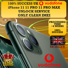 PERMANENT UNLOCK UK GB VODAFONE IPHONE 11 11 PRO MAX  UNLOCKING IMEI SERVICE