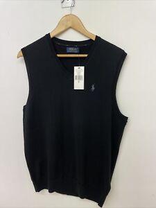 Polo Ralph Lauren Mens Washable Merino Wool Vest Tank Top | Black | M | A89