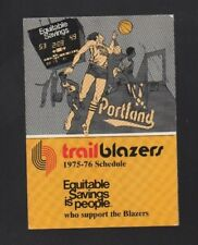 1975-76 PORTLAND TRAIL BLAZERS POCKET SCHEDULE