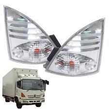 Corner Lamp Clear White Fit 2003-05 Hino Ranger All MEGA Truck FC4J FG1J - Pair