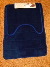 Household Trends 2pcs  Memory Foam Bath Mat Set - Blue  (RM-1)