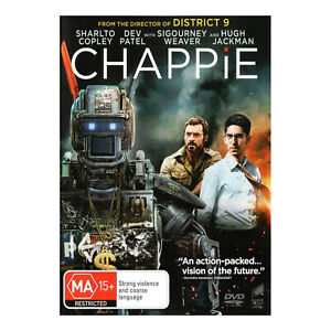 Chappie DVD Brand New - Hugh Jackman, Dev Patel, Sigourney Weaver - Free Post