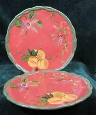 "TWO - TRACY - THE OCTAVIA HILL COLLECTION - DINNER PLATES - 10.75"" Diameter"