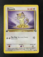 MINT/NM Meowth 56/64 Jungle Set 1st Edition Pokemon Card WotC PSA Ready