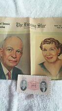 Eisenhower Nixon 1953 Inaugration Admission Ticket The Evening Star 1957