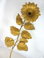 Large 1940 French Painted Tole Sconce Wall Light Flowers Chandelier Ceiling