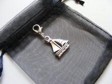 Sailing Boat Clip On Charm For Bracelets Anklets Handbags Zip Pulls & Gift Bag