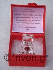 PERSONALISED WIFE Verse@VALENTINES@Teddy Bear@Red Rose@Keepsake@LOVE YOU GIFT