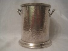 "Mappin & Webb's Prince's Plate hammered antique container 5.5"" bucket engraved"