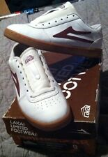 Lakai OG Manchester White Leather Girl Chocolate Skateboards Vintage Skate Shoes