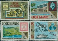 Cook Islands 1967 SG222-225 First Stamps set MLH